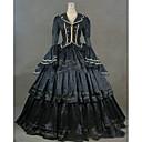 Χαμηλού Κόστους Στολές της παλιάς εποχής-Rococo Victorian 18ος αιώνας Φορέματα Κοστούμι πάρτι Χορός μεταμφιεσμένων Γυναικεία Σατέν Στολές Μπλε Πεπαλαιωμένο Cosplay Πάρτι Χοροεσπερίδα Μακρυμάνικο Μακρύ Μεγάλα Μεγέθη Προσαρμοσμένη