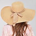 Χαμηλού Κόστους Καπέλο για πάρτι-Γυναικεία Μονόχρωμο Καπέλο Βίντατζ Κλασσικό & Διαχρονικό Λινό Μικροΐνες Αγνό Χρώμα-Καπέλο ηλίου Καλοκαίρι Μπλε Απαλό Χακί Βαθυγάλαζο