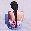Χαμηλού Κόστους Συνθετικές περούκες χωρίς σκουφί-Συνθετικές μπροστινές περούκες δαντέλας Ίσιο Yaki Ίσια Yaki Με μικρές μπούκλες Σχήμα L Περούκα Μακρύ Μαύρο Συνθετικά μαλλιά Γυναικεία Φυσική γραμμή των μαλλιών Στη μέση Περούκα κοτσιδάκια Μαύρο