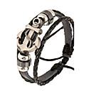 billiga Modearmband-Herr Läder Armband Natur Mode Läder Armband Smycken Svart Till Speciellt Tillfälle Gåva Sport