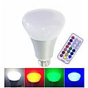 baratos Lâmpadas LED Inteligentes-1pç 10 W Lâmpada de LED Inteligente 700 lm E26 / E27 1 Contas LED LED Integrado Regulável Controle Remoto Decorativa RGB RGBW RGBWW 85-265 V / 1 pç / RoHs