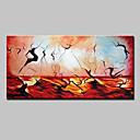 povoljno Apstraktno slikarstvo-Hang oslikana uljanim bojama Ručno oslikana - Sažetak Moderna Europska Style Uključi Unutarnji okvir / Prošireni platno