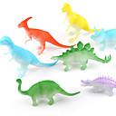 billiga Nagelstämpling-Drakar och dinousaurier Dinosaur Figur Triceratops Jurassic Dinosaur Velociraptor Plast Klassisk & Tidlös Barn Pojkar Flickor Leksaker Present