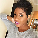 Χαμηλού Κόστους Εξτένσιος μαλλιών με φυσικό χρώμα-Ανθρώπινη Τρίχα Περούκα Κοντό Φυσικό Κυματιστό Κούρεμα νεράιδας Σύντομα Hairstyles 2019 Με αφέλειες Berry Φυσικό Κυματιστό Δροσερό και αναζωογονητικό Περούκα αφροαμερικανικό στυλ Μηχανοποίητο