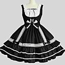 billiga Jewelry Set-Prinsessa Gothic Lolita Klänningar jsk / Jumper Kjol Dam Flickor Japanska Cosplay-kostymer Svart Ensfärgat Ärmlös Knälång / Gotisk Lolita / Underkjol