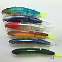 ราคาถูก เต้นท์และเต้นท์ผ้าใบกันแดด-6 pcs อุปกรณ์ตกปลา Hard Bait Minnow ใช้งานง่าย อุปกรณ์ลอยน้ำ Bass ปลาเทราท์ หอก เบทคาสติ้ง เหยื่อตกปลา พลาสติก