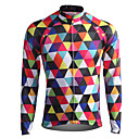 ราคาถูก เสื้อปั่นจักรยาน-21Grams สำหรับผู้ชาย สำหรับผู้หญิง แขนยาว Cycling Jersey อาร์'ไจล ขนาดพิเศษ จักรยาน Sweatshirt เสื้อยืด Tops ระบายอากาศ แห้งเร็ว แถบสะท้อนแสง กีฬา ความเย็นสุด® 100% โพลีเอสเตอร์ ขี่จักรยานปีนเขา Road