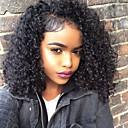 baratos Perucas de Cabelo Natural-Com Presilha Extensões de cabelo humano Kinky Curly Cabelo Humano Extensões de Cabelo Natural Cabelo Brasileiro Mulheres Preto Natural