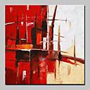 billige Abstrakte malerier-Hang malte oljemaleri Håndmalte - Abstrakt Abstrakt Moderne Moderne Inkluder indre ramme