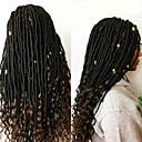 billiga Hästsvansar-Lockigt dreadlocks Dreadlocks / Faux Locs 100% kanekalon hår Kanekalon flätor Hår till flätning 1pack 24 rötter / pack 5pack för ett huvud