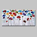 Χαμηλού Κόστους Πίνακες με Λουλούδια/Φυτά-Hang-ζωγραφισμένα ελαιογραφία Ζωγραφισμένα στο χέρι - Άνθινο / Βοτανικό Μοντέρνα Ευρωπαϊκό Στυλ Περιλαμβάνει εσωτερικό πλαίσιο / Επενδυμένο καμβά