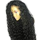 billige Blondeparykker med menneskehår-Ekte hår Blonde Forside Parykk Rihanna stil Brasiliansk hår Krøllet Svart Parykk 130% Hair Tetthet 8-24 tommers med baby hår Naturlig hårlinje limfrie Dame Kort Medium Lengde Lang Blondeparykker med