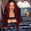 billige Blondeparykker med menneskehår-Remy Menneskehår Halvblonder uten lim Blonde Forside Parykk Beyonce stil Brasiliansk hår Krop Bølge Nyanse Parykk 180% Hair Tetthet med baby hår Ombre-hår Naturlig hårlinje Afroamerikansk parykk 100