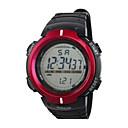 ราคาถูก เสื้อยืดปีนเขา-สำหรับผู้ชาย นาฬิกาแนวสปอร์ต นาฬิกาดิจิตอล ดิจิตอล ยาง ดำ 30 m กันน้ำ ปฏิทิน นาฬิกาจับเวลา ดิจิตอล ผ้าขนสัตว์สีธรรมชาติ แดง ฟ้า