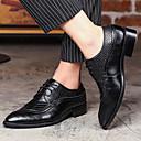 ราคาถูก รองเท้าOxfordสำหรับผู้ชาย-สำหรับผู้ชาย รองเท้าอย่างเป็นทางการ หนังสัตว์ ฤดูใบไม้ผลิ / ตก อังกฤษ รองเท้า Oxfords วสำหรับเดิน สีดำ / สีน้ำตาล / แดง / งานแต่งงาน / พรรคและเย็น / ข้อต่อ / พรรคและเย็น / Fashion Boots