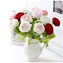 Χαμηλού Κόστους Ψεύτικα Λουλούδια & Βάζα-Ψεύτικα λουλούδια 1 Κλαδί Ευρωπαϊκό Στυλ Παιώνιες Λουλούδι για Τραπέζι