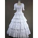 ราคาถูก เสื้อผ้าประวัติศาสตร์และวินเทจ-สไตล์โกธิค Victorian Medieval ศตวรรษที่ 18 หนึ่งชิ้น ชุดเดรส Party Costume Masquerade สำหรับผู้หญิง ลูกไม้ ฝ้าย เครื่องแต่งกาย ขาว Vintage คอสเพลย์ ปาร์ตี้ Prom แขนสั้น ลากพื้น ขนาดพิเศษ ที่กำหนดเอง