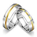 Χαμηλού Κόστους Ψαλίδια και Κλίπερς-Γυναικεία Για Ζευγάρια Δαχτυλίδια Ζευγαριού Band Ring Δαχτυλίδι Τιτάνιο Cubic Zirconia Τιτάνιο Ατσάλι Κυκλικό Κλασσικό Βίντατζ μινιμαλιστικό στυλ Γάμου Πάρτι Κοσμήματα Πριγκίπισσα / Επέτειος