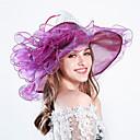 povoljno Party pokrivala za glavu-Perje / Svila / Organza Kentucky Derby Hat / Fascinators / kape s Cvjetni print 1pc Vjenčanje / Special Occasion / Zabava / večer Glava