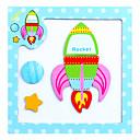 billiga Läsleksaker-Teckningsleksak Leksaksritplattor Pussel Pinnpussel Magnetic Easel Utbildningsleksak Fyrkantig Djur Magnet Trä Barn Present