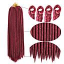 billige Hårfletter-Hår til fletning Heklet dreadlocks Hairextensions med menneskehår Dreadlocks / Faux Locs 100% kanekalon hår Kanekalon 24 røtter / pakke Hårfletter Daglig