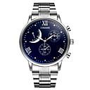 ราคาถูก อุปกรณ์เสริมสำหรับ Mac-สำหรับผู้ชาย นาฬิกาข้อมือ นาฬิกาอิเล็กทรอนิกส์ (Quartz) ที่มีขนาดใหญ่ โลหะ เงิน ลดกระหน่ำ ระบบอนาล็อก เสน่ห์ ความหรูหรา คลาสสิก ไม่เป็นทางการ นาฬิกาจำลองเพชร - ขาว ฟ้า หนึ่งปี อายุการใช้งานแบตเตอรี่