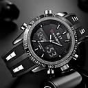 voordelige Militaire Horloges-Heren Polshorloge Digitaal horloge Silicone Zwart Waterbestendig Kalender Creatief Analoog-Digitaal Amulet Luxe Klassiek Informeel Modieus - Zwart Rood Blauw Twee jaar Levensduur Batterij