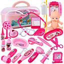 ราคาถูก เงินปลอม เงินของเล่น-ชุดแพทย์ Pretend Professions & Role Playing เพลงและแสง แพทย์ Plastics สำหรับเด็ก เด็กผู้หญิง Toy ของขวัญ 1 pcs