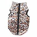billige Hundeklær-Kat Hund Frakker Trøye / T-skjorte Genser Vinter Hundeklær Leopard Kostume Bomull Leopard Fest Fritid / hverdag Hold Varm XS S M L