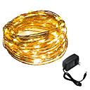 ราคาถูก ไฟเส้น LED-HKV 5ม. ไฟสาย 50 ไฟ LED SMD 0603 ขาวนวล / White Christmas / ปาร์ตี้ / ตกแต่ง 12 V 1pc / IP65