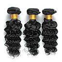 baratos Um pacote de cabelo-3 pacotes Cabelo Brasileiro Encaracolado Onda Profunda Weave Curly Cabelo Humano Cabelo Humano Ondulado 8-26 polegada Tramas de cabelo humano Venda imperdível Extensões de cabelo humano