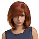 billiga Takfasta och semitakfasta taklampor-Mänskligt hår Peruk Rak Klassisk Korta frisyrer 2019 Klassisk Rak Nyans Maskingjord Röd Dagligen