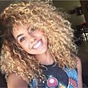 Χαμηλού Κόστους Εξτένσιος μαλλιών με φυσικό χρώμα-Φυσικά μαλλιά Δαντέλα Μπροστά Χωρίς Κόλλα Δαντέλα Μπροστά Περούκα στυλ Βραζιλιάνικη Σγουρά Kinky Curly Περούκα 130% Πυκνότητα μαλλιών / Μαλλιά με ανταύγειες / Φυσική γραμμή των μαλλιών