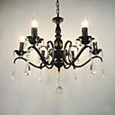 ราคาถูก ก๊อกน้ำห้องครัว-6-Light โคมไฟระย้า Ambient Light สีดำ โลหะ สไตล์เทียน 110-120โวลล์ / 220-240โวลต์ / E12 / E14
