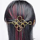 povoljno Modne ogrlice-Europa i američka država vanjska trgovina euro ugovoriti džokej dodaci za kosu šuplji metal kineski čvor dlačica pola ruke tip a0331-0332
