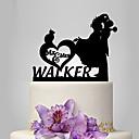 povoljno Svadbeni ukrasi-Figure za torte Klasični Tema / Romantika / Vjenčanje Par Classic plastika Vjenčanje / godišnjica s 1 pcs Poli Bag