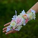 """ราคาถูก ดอกไม้งานแต่งงาน-ดอกไม้สำหรับงานแต่งงาน ช่อดอกไม้ข้อมือ งานแต่งงาน ฝ้าย 1.97""""(ประมาณ 5ซม.)"""