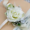 """ราคาถูก ดอกไม้งานแต่งงาน-ดอกไม้สำหรับงานแต่งงาน ช่อดอกไม้ข้อมือ งานแต่งงาน ชีฟอง / ผ้าไหม / ซาติน 1.97""""(ประมาณ 5ซม.)"""