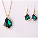 povoljno Komplet nakita-Žene Komplet nakita Privjesci Ispustiti Naušnice Jewelry Obala / Zelen / Plava Za Vjenčanje Party Special Occasion godišnjica Rođendan