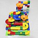 povoljno Blokovi blokiranja-Izgradnja mramorne trke Poligoni za pikule Mramorna vožnja STEAM igračka Plastika Dječji Uniseks Dječaci Djevojčice Igračke za kućne ljubimce Poklon 47 pcs