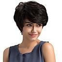 povoljno Capless-Ljudski kose bez kaplama Ljudska kosa Klasika / Prirodne kovrče Kratke frizure 2019 Berry Stil Machine Made Perika Dnevno