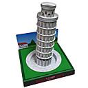 ราคาถูก จิ๊กซอว์3D-3D-puslespill กระดาษรุ่น Model Building Kits หอคอย อาคารที่มีชื่อเสียง หอเอนเมืองปิซา DIY กระดาษการ์ดแข็ง คลาสสิก สำหรับเด็ก ทุกเพศ เด็กผู้ชาย เด็กผู้หญิง Toy ของขวัญ