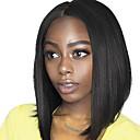 billige Blondeparykker med menneskehår-Remy Menneskehår Halvblonder uten lim Blonde Forside Parykk Bobfrisyre stil Brasiliansk hår Rett Yaki Parykk 130% 150% Hair Tetthet med baby hår Naturlig hårlinje Afroamerikansk parykk 100