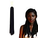 Χαμηλού Κόστους Πλεξούδες μαλλιών-Μαλλιά για πλεξούδες Σγουρά Με βελονάκι Dread Locks Εξτένσιον από Ανθρώπινη Τρίχα Dreadlocks / Faux Locs 100% μαλλιά kanekalon Kanekalon 24 ρίζες / πακέτο μαλλιά Πλεξούδες Επέκταση Dreadlock