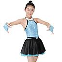 abordables Ropa de Baile para Niños-Jazz Vestidos Mujer Rendimiento Licra / Satén / Lentejuelas Lentejuela / Cristales / Rhinestones Sin Mangas Cintura Media Vestido / Guantes / Neckwear / Vestidos de Cheerleader / Danza Moderna