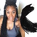 Χαμηλού Κόστους Πλεξούδες μαλλιών-Μαλλιά για πλεξούδες Σγουρά Bouncy Curl Με βελονάκι Dread Locks Εξτένσιον από Ανθρώπινη Τρίχα Dreadlocks / Faux Locs 100% μαλλιά kanekalon Kanekalon 24 ρίζες / πακέτο μαλλιά Πλεξούδες