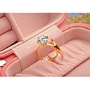 ราคาถูก แหวน-สำหรับผู้หญิง แหวน สีทอง สีเงิน สีน้ำตาลอ่อน Cubic Zirconia Titanium Steel ทองชุบ รอบ คลาสสิก สง่างาม งานแต่งงาน วันครบรอบ เครื่องประดับ / การหมั้น