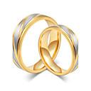 billige Ringer for Par-Par Parringer Gull Rose gull Titanium Stål Rund Enkel Stil Elegant Bryllup jubileum Smykker / Engasjement / Daglig / Valentine