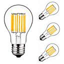 billiga LED-koltrådslampor-4pcs 10 W 900 lm E26 / E27 LED-glödlampor A60(A19) 10 LED-pärlor COB Dekorativ Varmvit / Kallvit 220-240 V / 4 st / RoHs