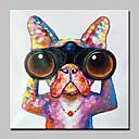 povoljno Apstraktno slikarstvo-Hang oslikana uljanim bojama Ručno oslikana - Životinje Sažetak Moderna Bez unutrašnje Frame